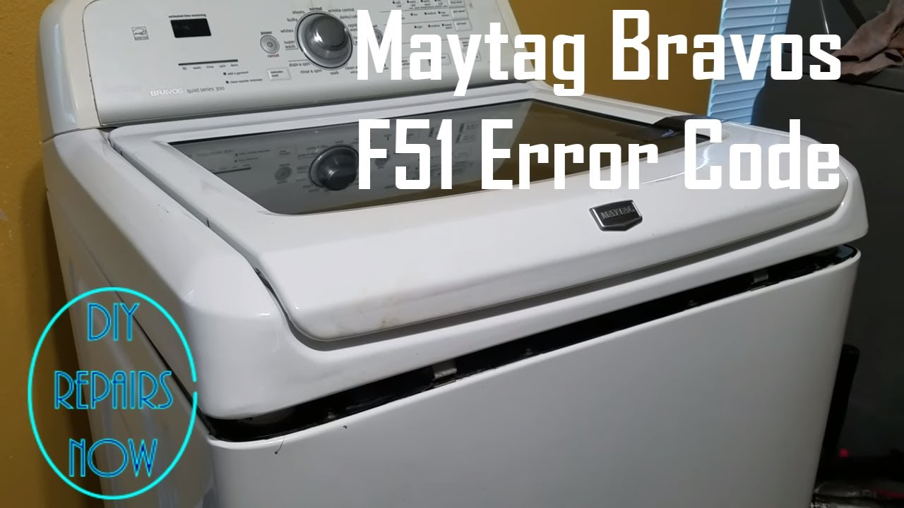 how to fix f51 error code on maytag bravos whirlpool cabrio and kenmore oasis washer mvwb700vq0 [ 1280 x 720 Pixel ]