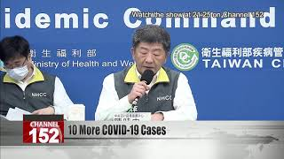 Taiwan confirms 8 more imported COVID-19 cases, 2 local infections