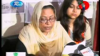 Mahmudur Rahman Manna's wife press conference about Manna's sick