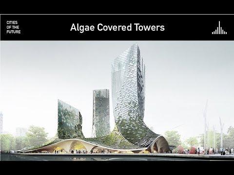Algae-covered Towers in Hangzhou by XTU