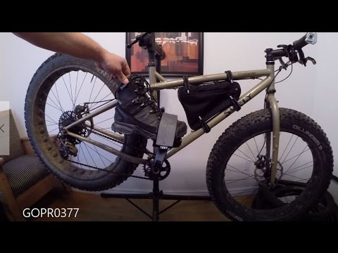 YNOT Platform Pedal Straps Plus Cheap Frame Bag Purchase. Surly Moonlander Fat Bike.
