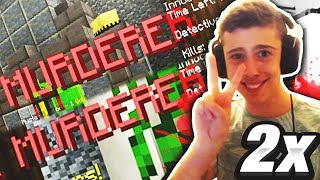 I Got MURDERER TWICE In A Row! (Minecraft Murder Mystery)