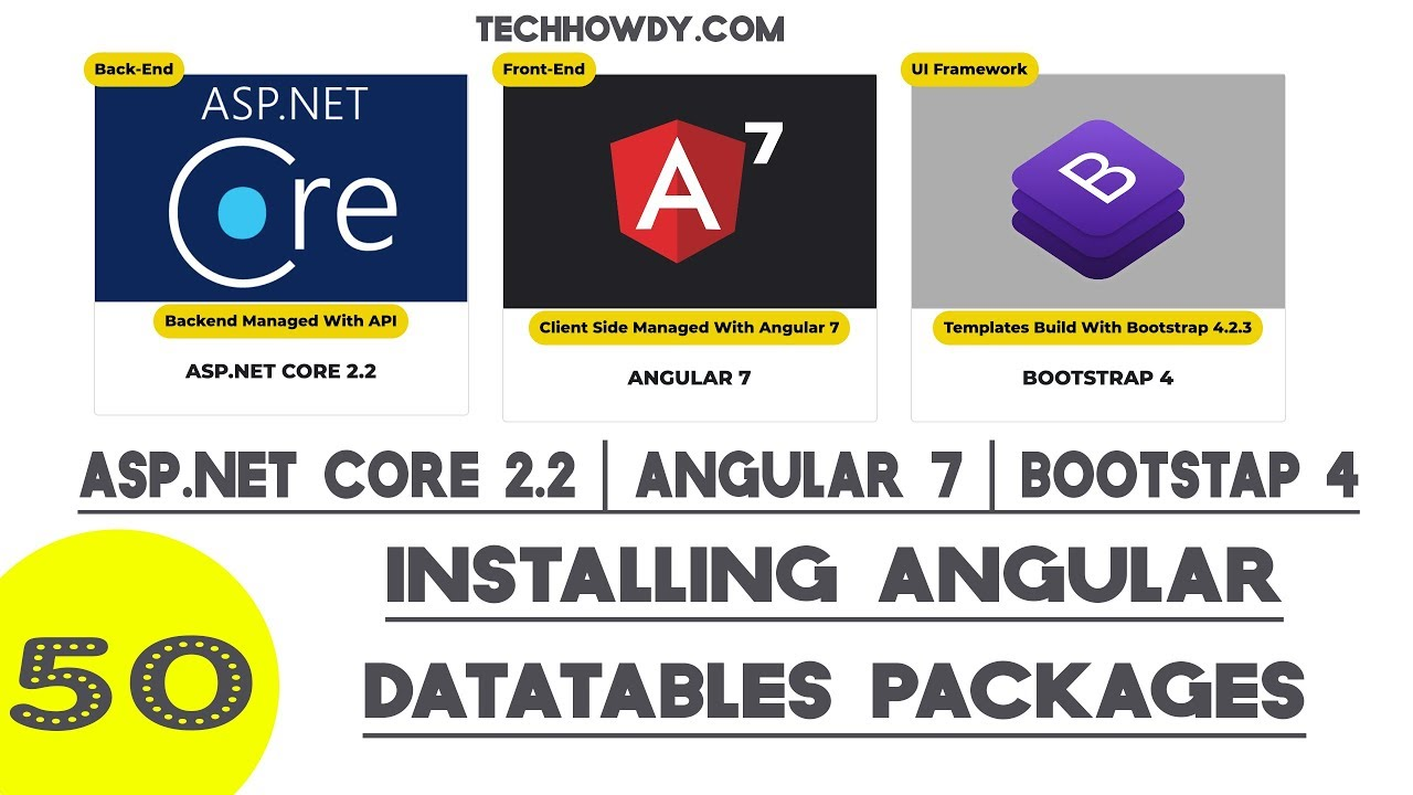 Angular 7   Installing Angular DataTables Packages