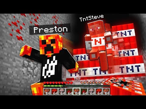 TNT STEVE ATTACKS PRESTONPLAYZ & LOGDOTZIP! *CORRUPTED MINECRAFT WORLD*