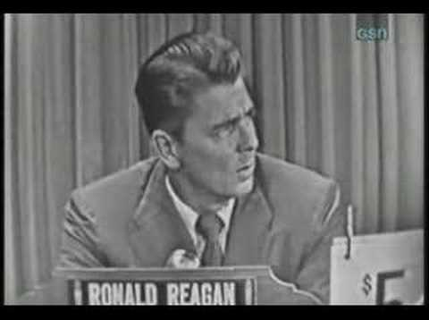 Whats my line? - Ronald Reagan
