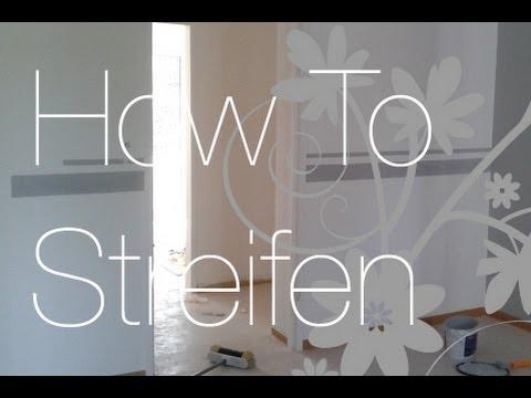 Follow me around & How to: Wohnung+ Streifen malen - YouTube