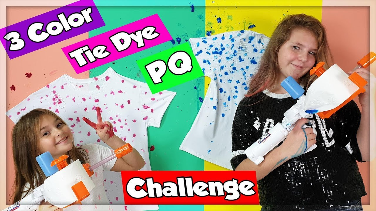 3 COLORS OF TIE DYE PQ CHALLENGE !!!
