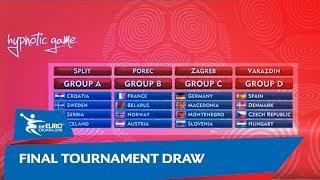 Final Tournament Draw   Men's EHF EURO 2018
