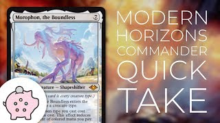 Morophon, the Boundless | Modern Horizons Spoiler | EDH | Budget | Tribal |Commander Quick Take