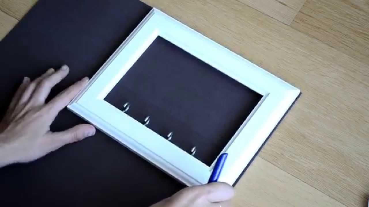 DIY Cuelga llaves con marco de fotos - YouTube