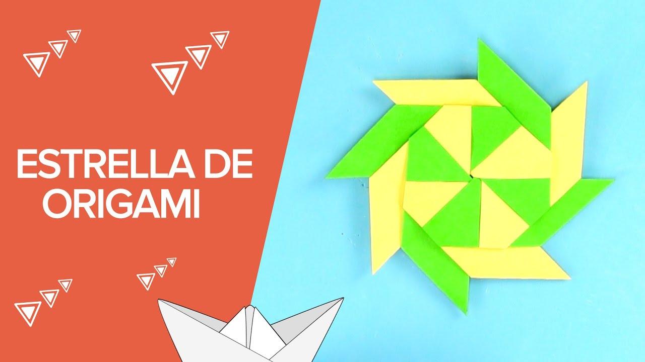 Papercraft Cómo hacer una estrella modular de origami | Papiroflexia para niños