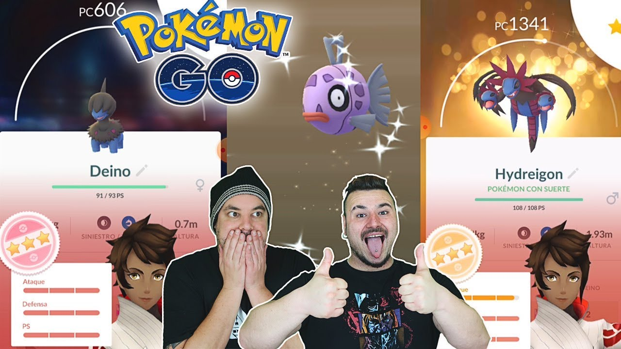 ¡INCREÍBLE! ¡CAPTURO A DEINO 100 % iv FEEBAS SHINY y mucho más en Pokemon GO!