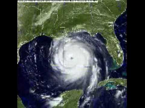 Hurricane Katrina Visible Infra Red Satellite Loop Youtube