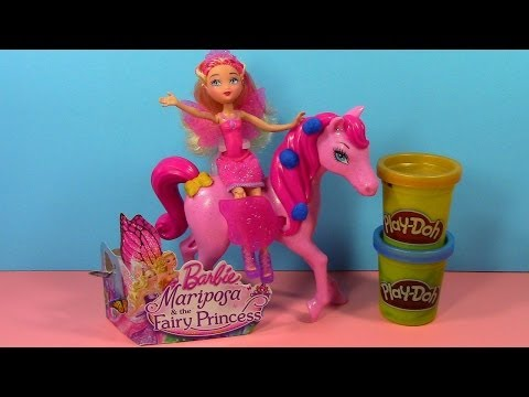 Barbie Mariposa and the Fairy Princess Review with Play-Doh Accessories