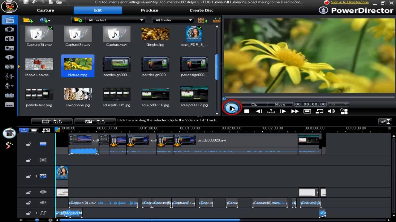 cyberlink powerdirector 11 templates free downloads - cyberlink powerdirector 8 arranging work space using