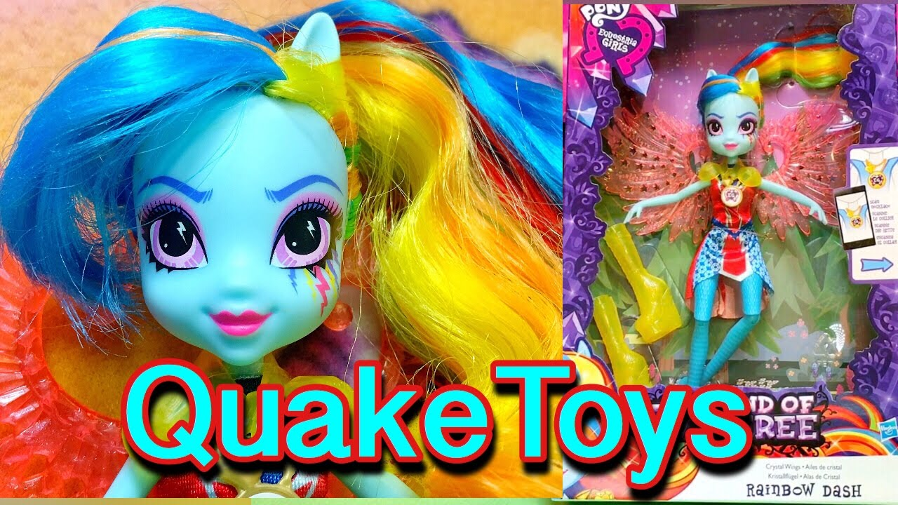 My Little Pony Equestria Girls Legend of Everfree Crystal Wings Rainbow  Dash MLP Zapcode QuakeToys
