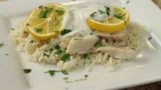 Easy Baked Fish (cod) With Citrus Cilantro Sauce By Rockin Robin