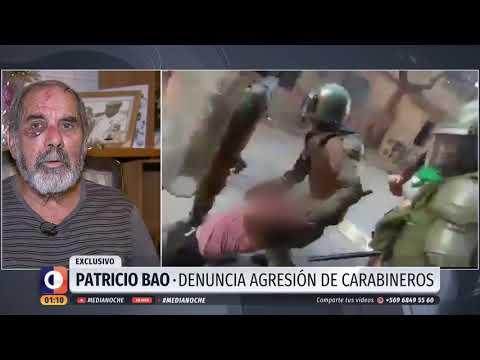 Un anciano es agredido brutalmente por la policía en Chile en la marcha del 8-M