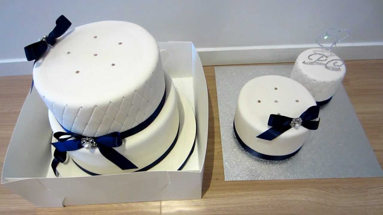 Classic Wedding Cake - Deconstructed for Transport & how to attach the Broach Ribbons