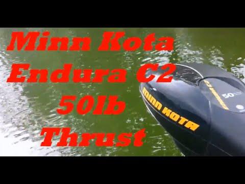 Minn Kota Endura C2 50lb Thrust Trolling Motor Review - YouTube