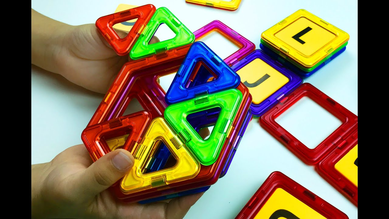 Create New Designs With Magnetic Shapes. Magplayer Toy