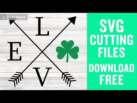 Download Love shamrock arrows svg free, st patricks day svg ...