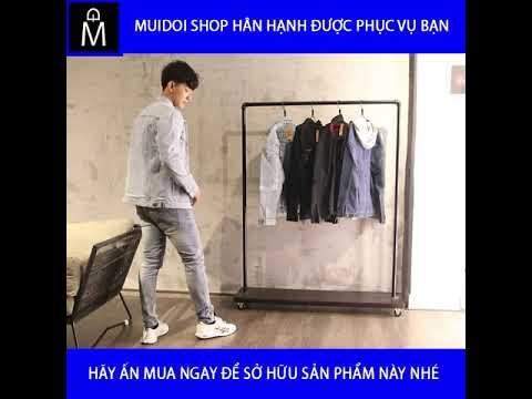 áo Khoác Jeans Nam Xanh Nhạt Vải Dày Bền đẹp A452 MuiDoi | áo Khoác | áo Khoác Jeans Nam