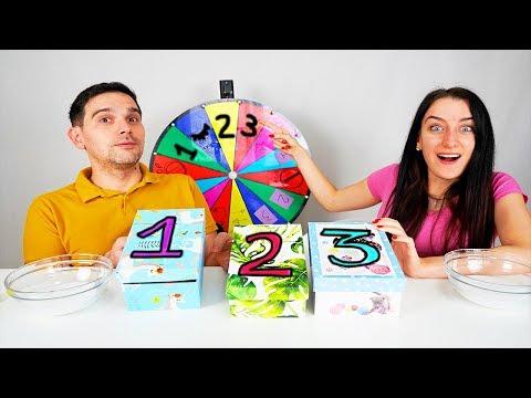 SLIME 3 MYSTERY BOX SCELTE DALLA RUOTA !! SLIME CHALLENGE!!