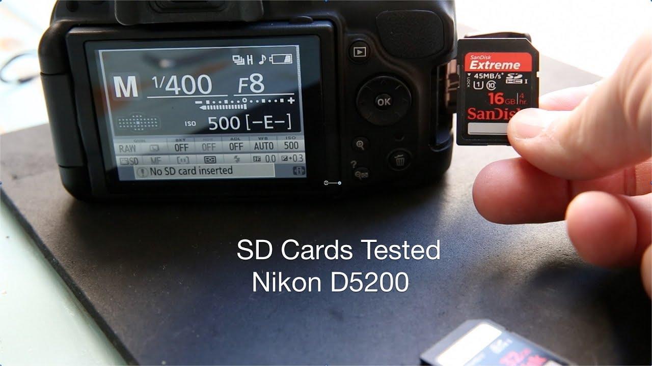 que tarjeta de memoria usa la nikon d5200