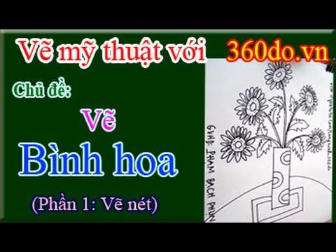 Vẽ mỹ thuật với 360do.vn. Bài 10_1 : Vẽ BÌNH HOA (Phần 1: Vẽ nét)