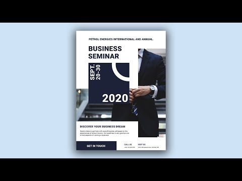 Business Event Poster - Poster Design in Photoshop Speed Art Tutorial #02 thumbnail