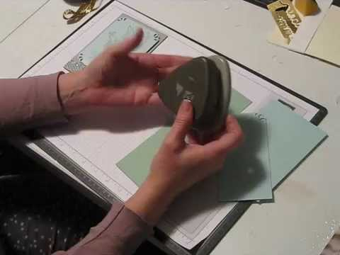 Tips For Using The Curvy Corner Trio Punch From Stampinup Youtube