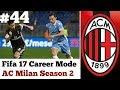 Fifa 17 AC Milan CAREER MODE  44 we face Lazion in the semi final of the Coppa Nazionale