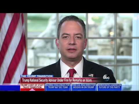 Video: Incoming White House Chief of Staff Reince Priebus Says Aspects of Islam