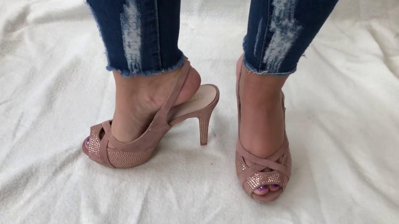 High heels slingback rough feet