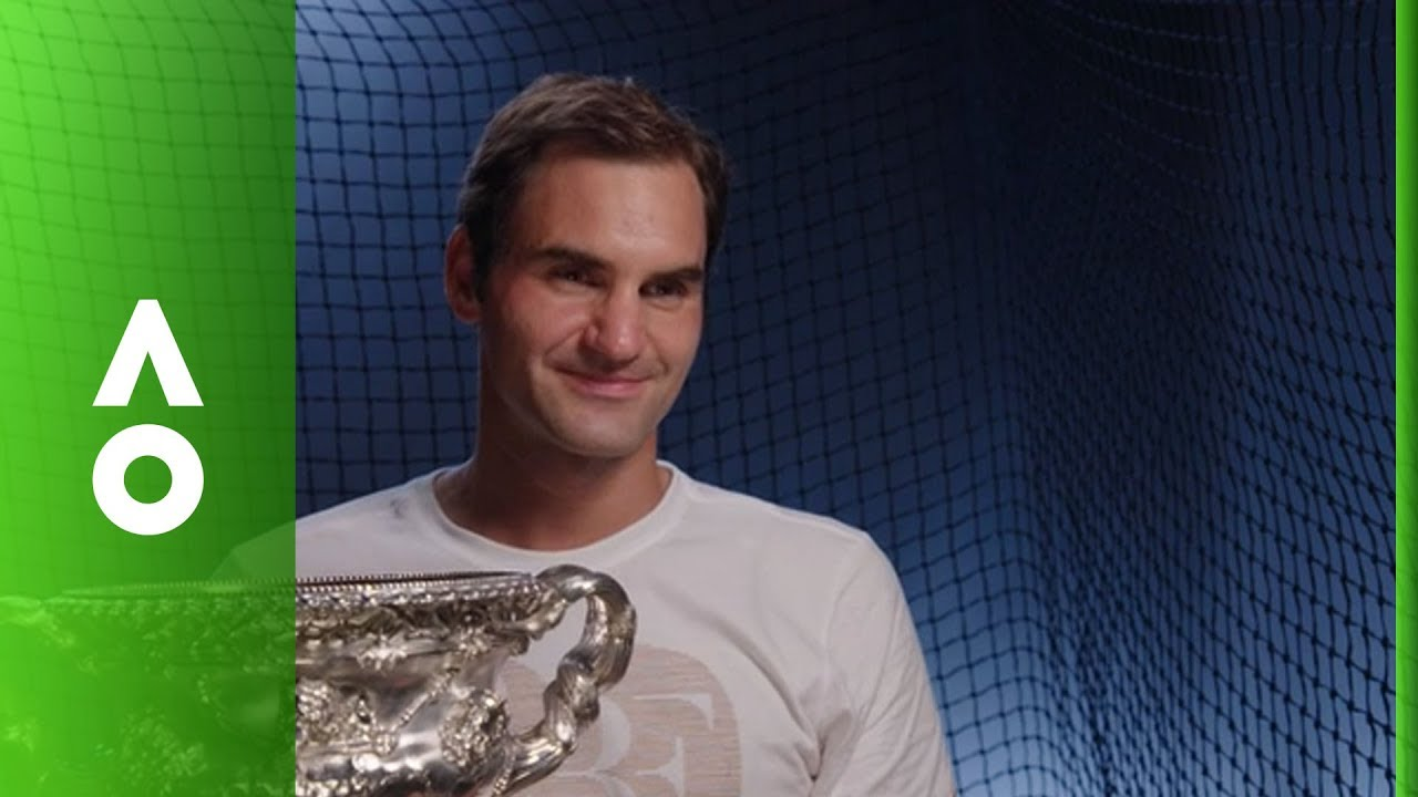 efb42a02 Roger Federer post match interview (F) | Australian Open 2018 - YouTube