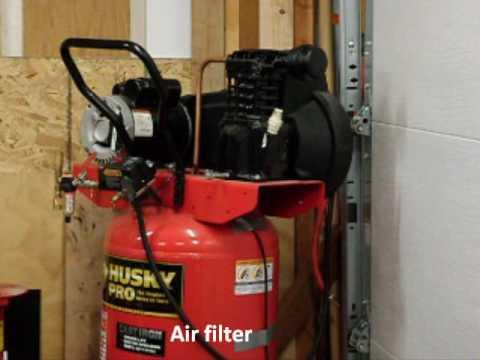 Air Compressor Intake Muffler Youtube