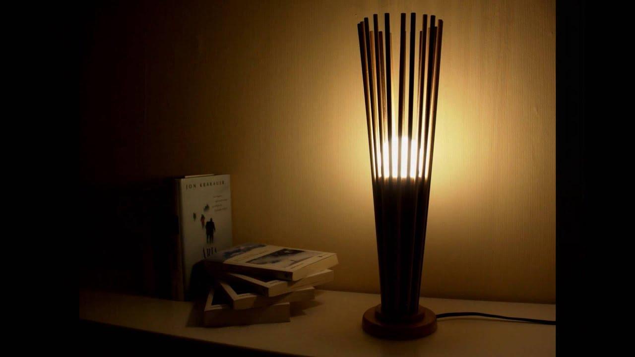 Molto BASKET - Lampada da tavolo artigianale in legno - YouTube FK96
