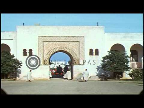 The Palace of Sultan Mohammed V in Rabat, Morocco. HD Stock Footage
