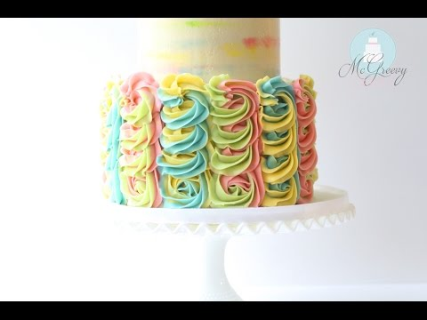 How to Make a Two-Toned, Buttercream Swirl Cake!