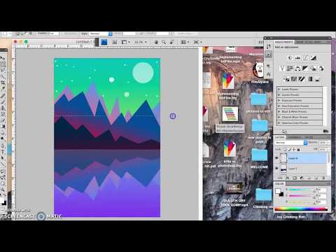 Digital Drawing a Simple Landscape in Photoshop