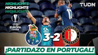 Highlights | FC Porto 3 - 2 Feyenoord | Europa League - J 6 - Grupo G | TUDN