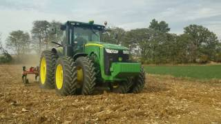 John Deere 8360R with Ripper Ride Along - Post Module Installation Comparing Stock vs. 30% Mode