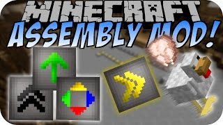 Minecraft ASSEMBLY MOD (Item Sorter, Transport, Laufband) [Deutsch]