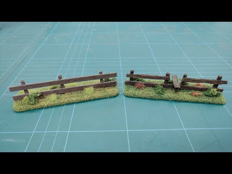 Let's Make - Cheap & Easy Wooden Field Fences Scatter Terrain