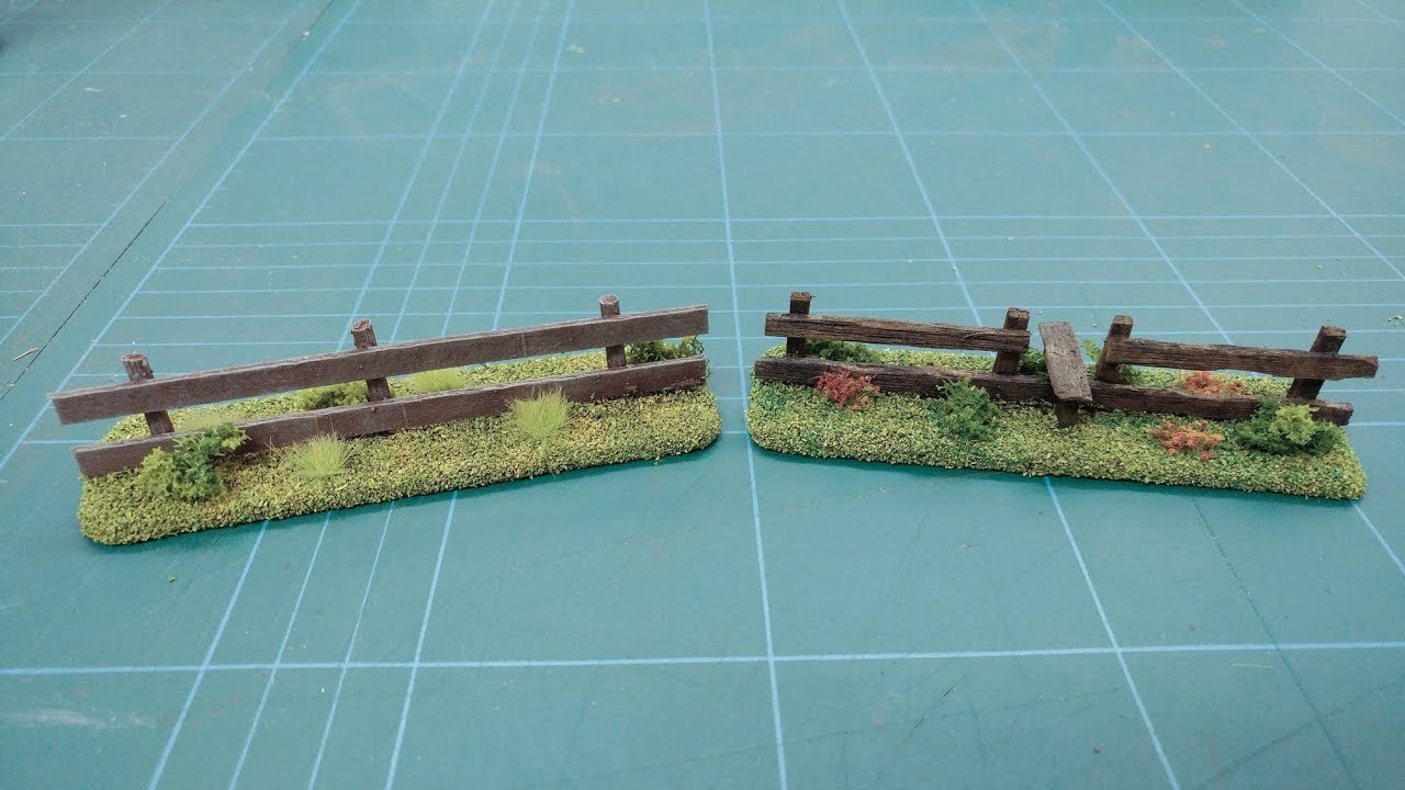 Let's Make - Cheap & Easy Wooden Field Fences Scatter Terrain