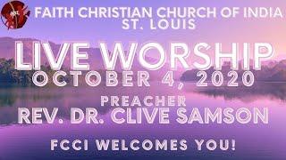 FCCIndia Live Worship 10/04/2020 | FCCI St. Louis