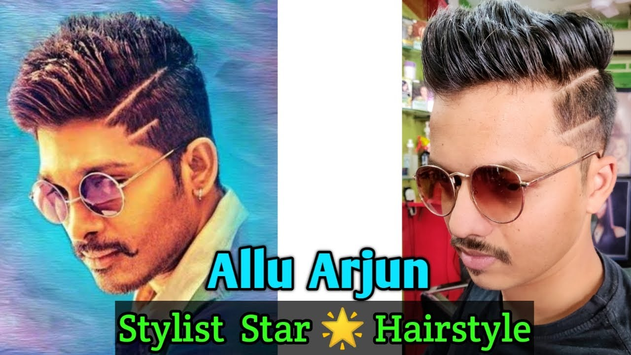 Best medium Hairstyle for Boys / Haircut & Hairstyle Trend 12 / Allu  Arjun Hairstyle #12