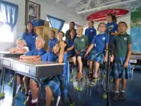 Friendly Letters song by the fourth graders at Doris Todd Christian Academy in Paia, Maui