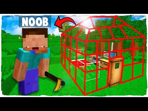 🤘 NOOB VS CASA INVISIBLE + NOOB VS CHICA TROLL CON MIKECRACK - MINECRAFT